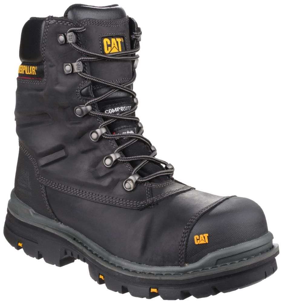 CAT Premier Safety Boots Black