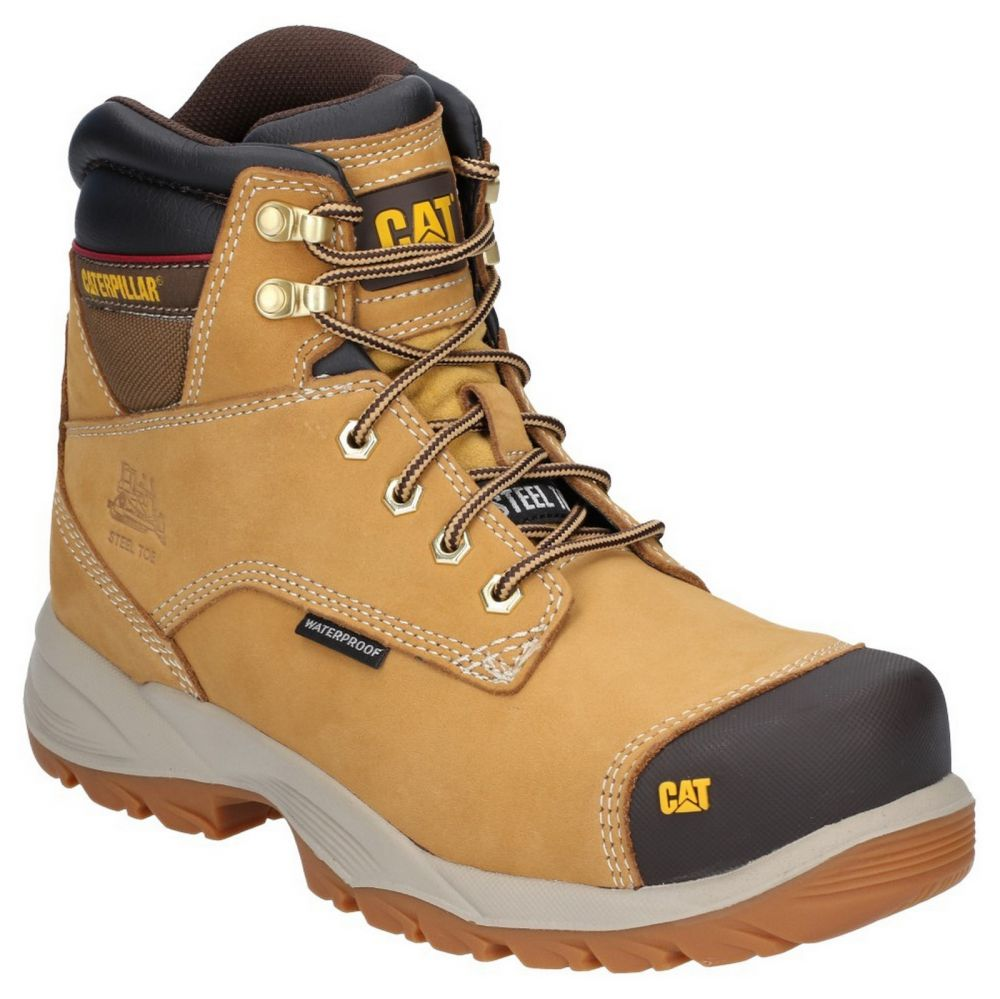 CAT Spiro S3 Waterproof Safety Boots Honey