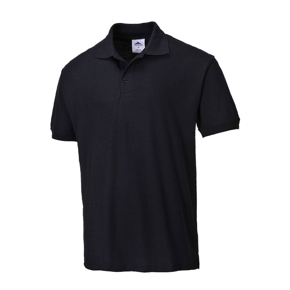 Portwest B210 - Naples Polo Shirt Black