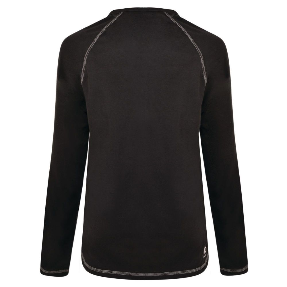 DARE2B Women's Exchange Long Sleeved Thermal Base Layer Top Black Ebony Grey