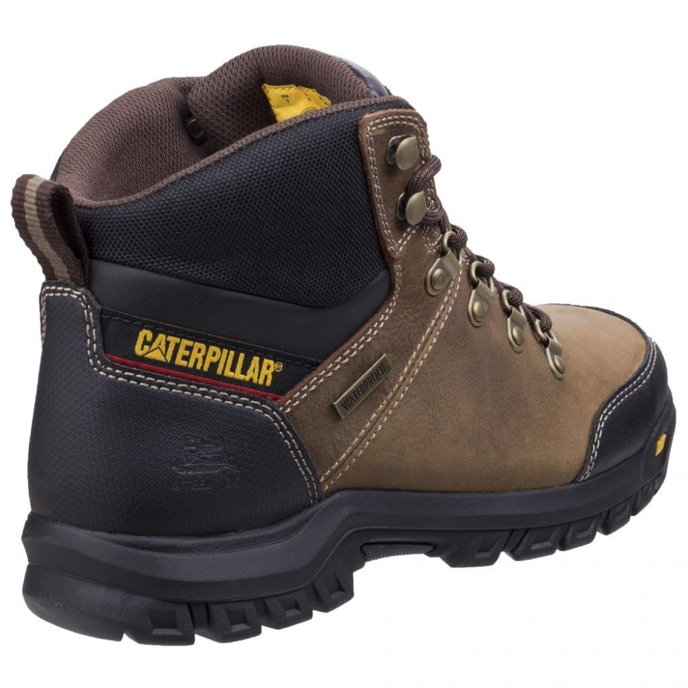 CAT Framework S3 Safety Boots Brown