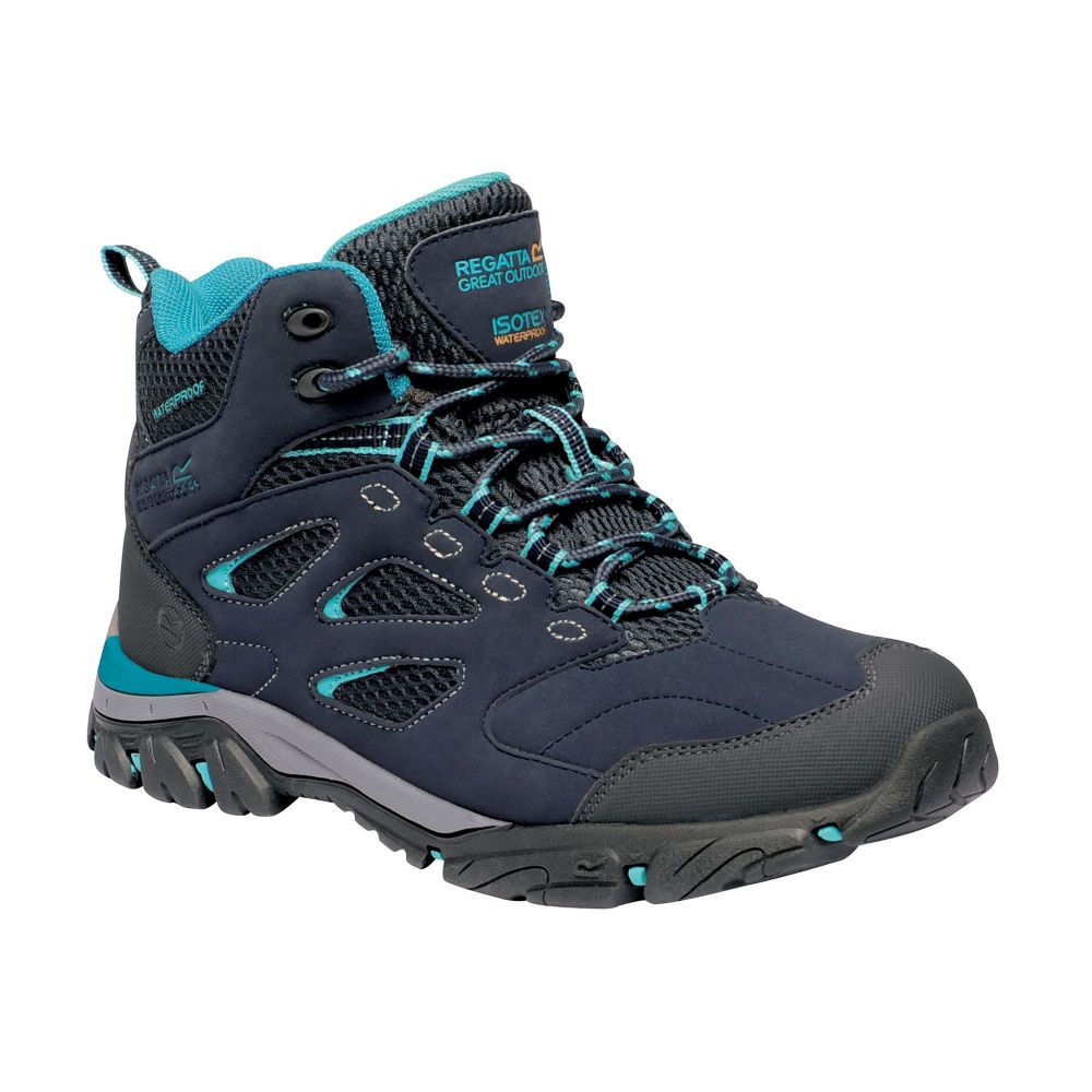 Regatta Women's Holcombe IEP Mid Walking Boots Navy Azure Blue