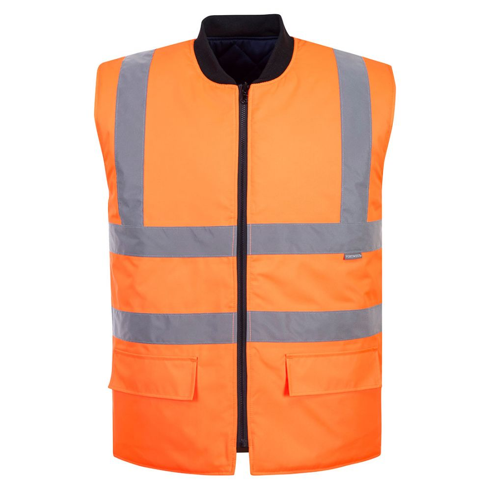 Portwest S469 - Hi-Vis Reversible Bodywarmer Orange