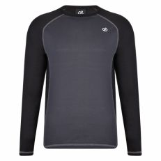 DARE2B Men's Exchange Long Sleeved Thermal Base Layer Top Black Ebony Grey