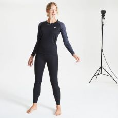 DARE2B Women's Exchange Base Layer Set Black Ebony Grey