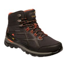 Regatta Men's Kota II Waterproof Walking Boots Peat Rusty Orange