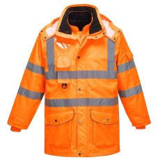 Portwest RT27 - Hi-Vis 7-in-1 Traffic Jacket RIS Orange