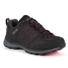 Regatta Samaris II Low Walking Shoes Black Duchess Pink