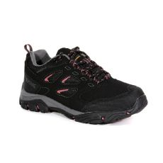 Regatta Holcombe IEP Low Walking Shoes Black Deco Rose
